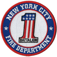 New York City Battalion 1 Fire Patch