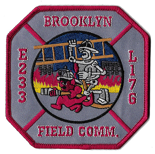New York City Engine 233 Ladder 176  Field Comm Patch