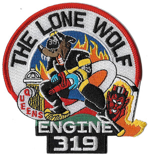 New York City Engine 319 The Lone Wolf Patch