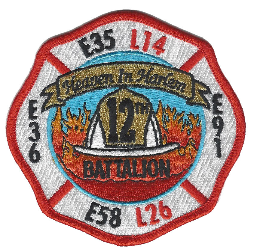 NEW YORK CITY FIRE DEPT. BATTALION 12 FIRE PATCH