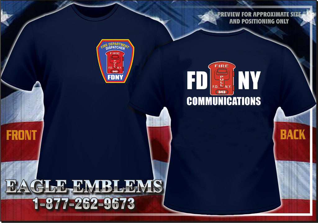 FDNY COMMUNICATIONS  FIRE DEPARTMENT DISPATCHER  Navy Tee