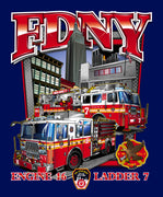 FDNY E16 TL7 Empire State Building Tee
