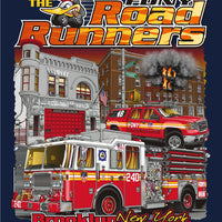 "FDNY E-240 ""Roadrunners"" Navy Tee - Small/3XL Only"