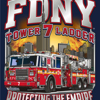 "FDNY Tower Ladder 7 Tee ""Protecting the Empire"""