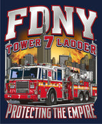 "FDNY Tower Ladder 7 ""Protecting the Empire"" Empire State Building Fire Tee"