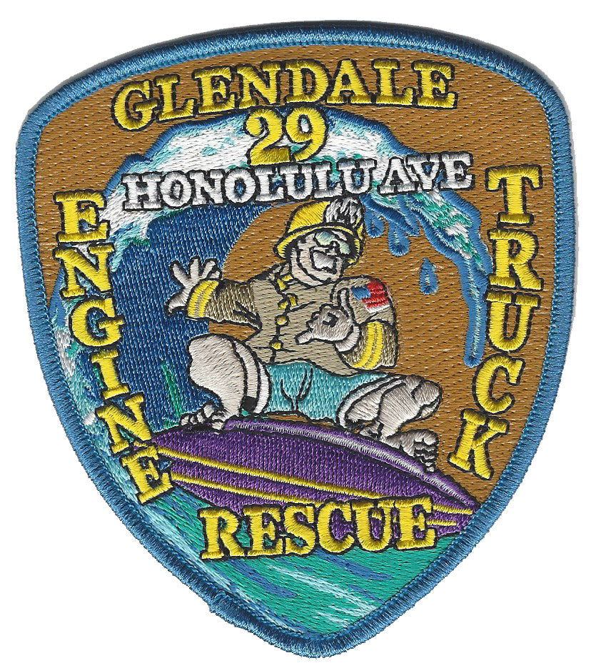 GLENDALE, CA. FIRE DEPT. ENGINE TRUCK RESCUE 29 PATCH
