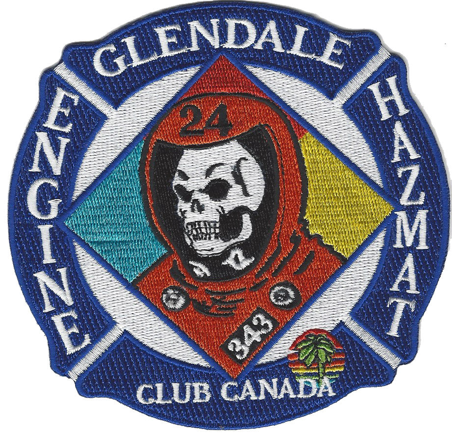 GLENDALE, CA. FIRE DEPT. ENGINE 24 HAZMAT PATCH