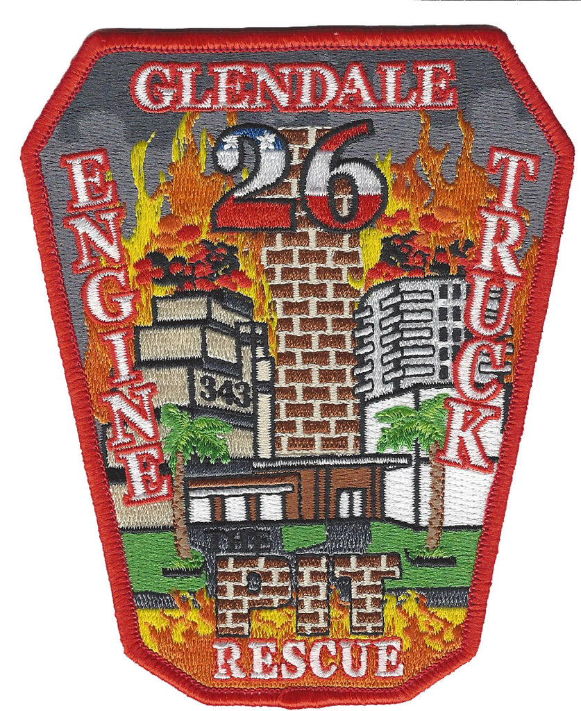 GLENDALE, CA. FIRE DEPT. ENGINE 26 PATCH