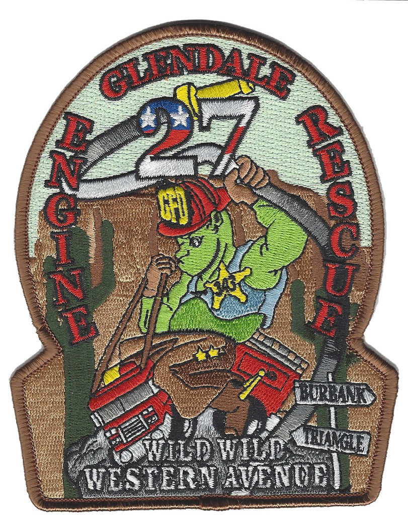 GLENDALE, CA. FIRE DEPT. ENGINE 27 PATCH