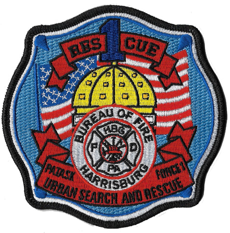 Harrisburg, PA Rescue 1 US&R Fire Patch