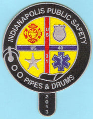 INDIANAPOLIS PUBLIC SAFETY PIPES & DRUMS FIRE PATCH