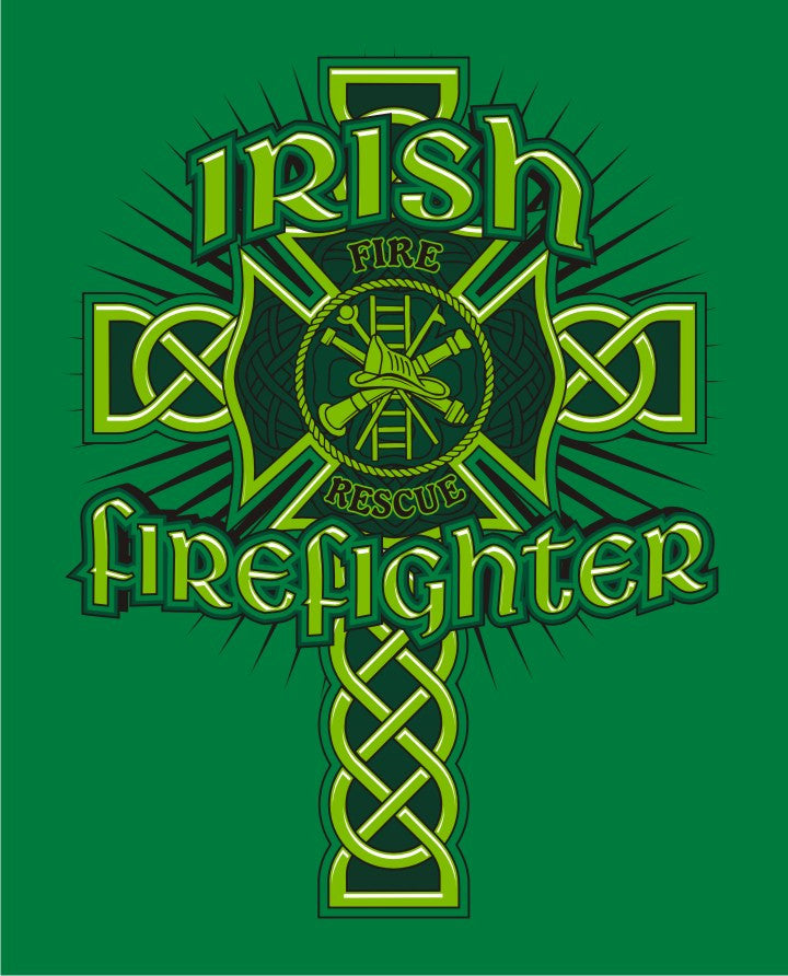 Irish Firefighter -  Kelly Green Tee