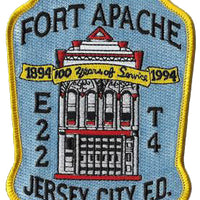 Jersey City Engine 22 Truck 4 Fort Apache 100 Years Fire Patch