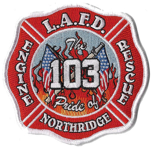 LAFD Station 103 Patch Pride of Northridge