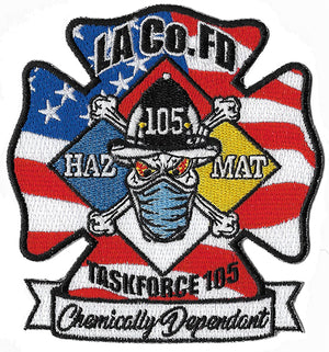 LA County Station 105 Chemically Dependent Haz Mat  Fire Patch