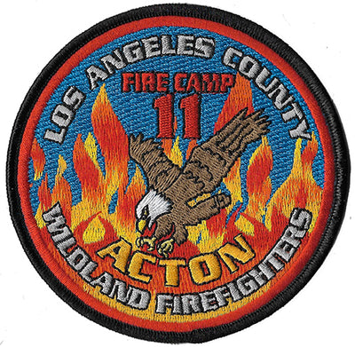 LA County Camp 11 Wildland Firefighters Fire Patch