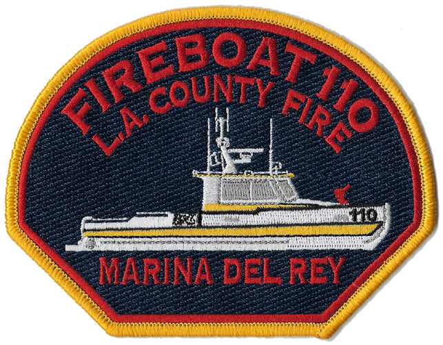 LA County Fireboat 110 Marina Del Rey Fire Patch