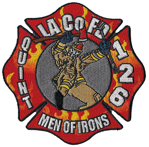 LA County Station 126 Men of Irons Fire Patch
