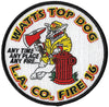 LA County Station 16 Watts Top Dog Black Border Fire Patch