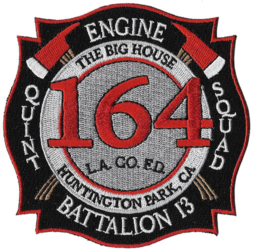 LA County Station 164 NEW DESIGN Huntington Park The Big House Fire Patch