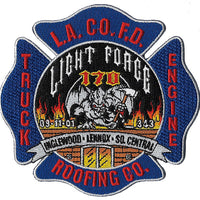 LA County Station 170 Roofing Company Fire Patch