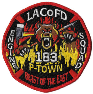 LA County Station 183 Beast of the East BEAR Fire Patch