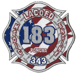 LA County Station 183 Red-White-Blue Flag Fire Patch