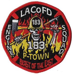 LA County Station 183 Beast of the East SKULL Fire Patch