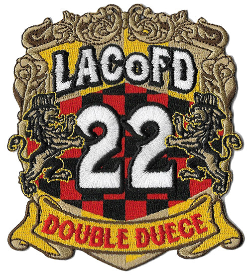 LA County Station 22 Double Deuce NEW Design Fire Patch