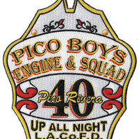 LA County Station 40 Pico Boys Unique Shape Fire Patch