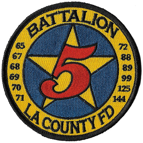 LA County Battalion 5 Fire Patch