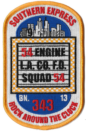 LA County Station 54 Rock Around The Clock Fire Patch