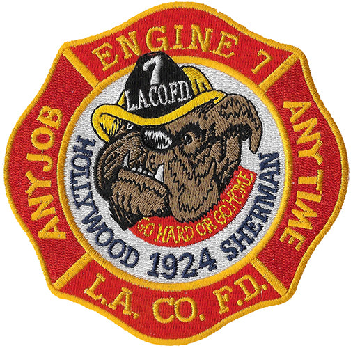 LA County Station 7 Hollywood Sherman Fire Patch