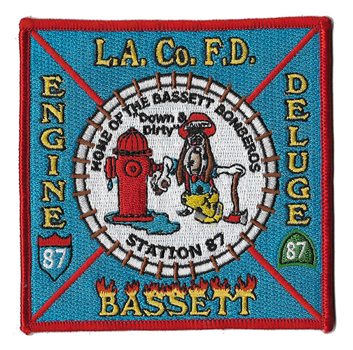 LA County Station 87 Bassett Bomberos Fire Patch