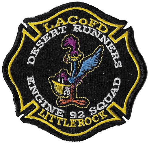 LA County Station 92 Desert Runners Black Design Fire Patch