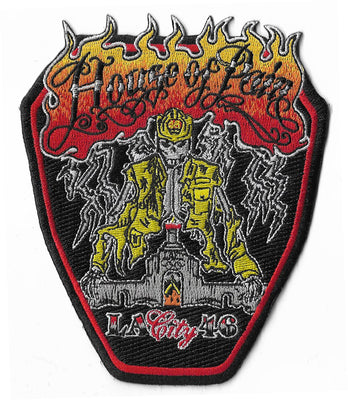 LAFD Station 52 Hollywood Black Design Fire Patch
