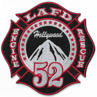 "LAFD 52 ""Hollywood "" Patch - Black Background"
