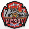 LAFD Station 75 The Mission Orange Patch