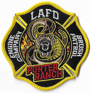 "LAFD Station 8 New Design Patch ""Porter Ranch"" Patch"