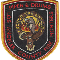 Los Angeles County Fire Fighters Pipes & Drums Patch