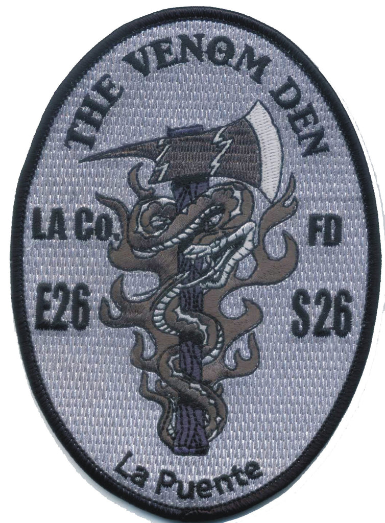 LA County Station 26  GREYSCALE FIRE PATCH