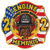 Memphis Engine 22 Orange Mound Hounds Fire Patch