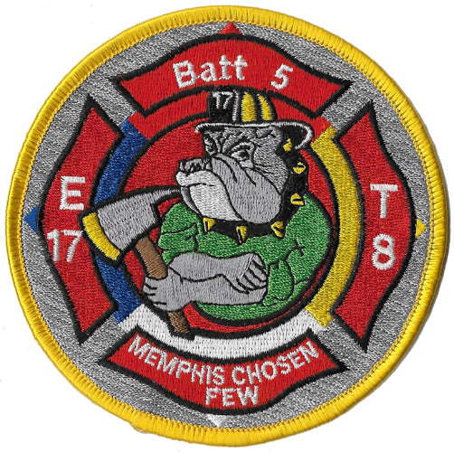 Memphis Engine 17 Truck 8 Batt. 5  Round Fire Patch