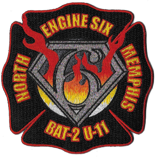 Memphis Engine 6 Batt. 2 North Memphis Fire Patch Patch