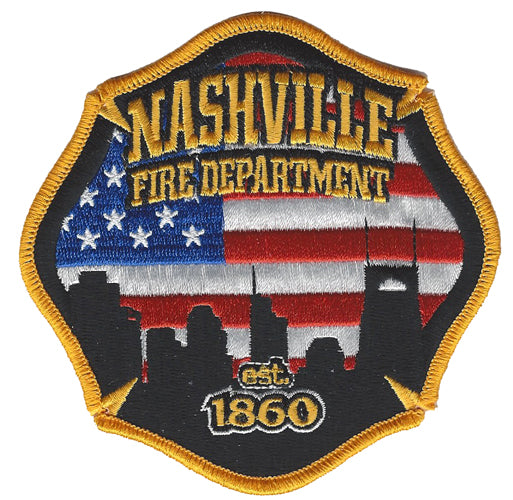 NASHVILLE FIRE DEPARTMENT est.1860  FIRE PATCH