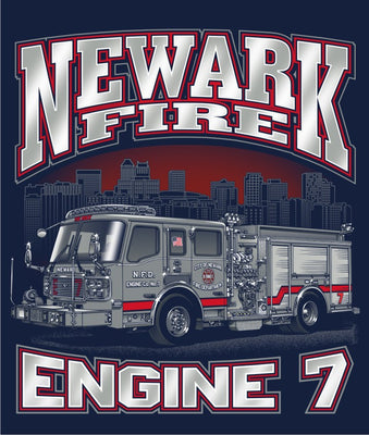 Newark Engine 7 Navy Tee