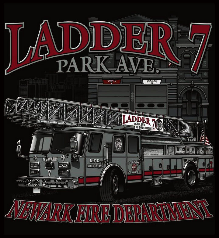 Newark Ladder 7 Black Tee