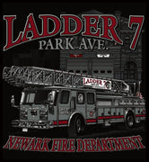 "Newark Ladder 7  ""PARK AVE"" Black Tee"