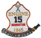 New York City  ENGINE 15 MANHATTAN FORT PITT FIRE PATCH