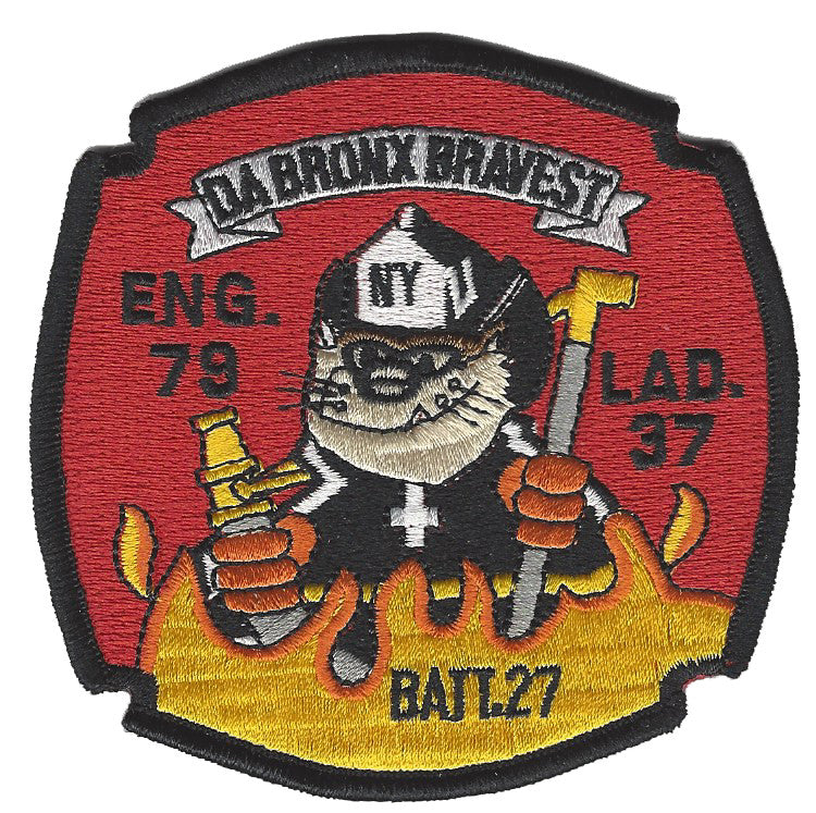 New York City E-79 L-37 Da Bronx Bravest Patch